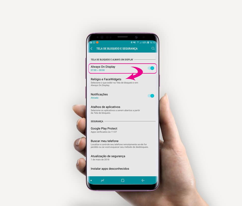 Tutorial: use Clock Face para alterar o estilo do relógio do Samsung Galaxy 6