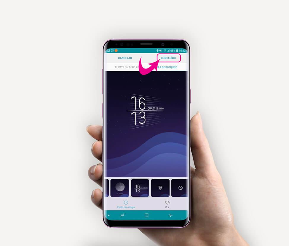 Tutorial: use Clock Face para alterar o estilo do relógio do Samsung Galaxy 10