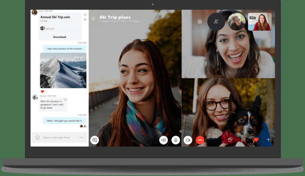 Skype version 8 blog 1024x593 - Skype ganhará recurso de gravação de chamadas e novo design para a versão desktop