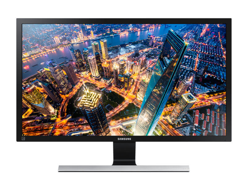 br uhd ue590d lu28e590ds zd 001 front black - Review: monitor Samsung UHD 4K UE590 entrega imersão mesmo sem tela curva