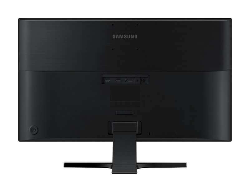 br uhd ue590d lu28e590ds zd 002 back black - Review: monitor Samsung UHD 4K UE590 entrega imersão mesmo sem tela curva