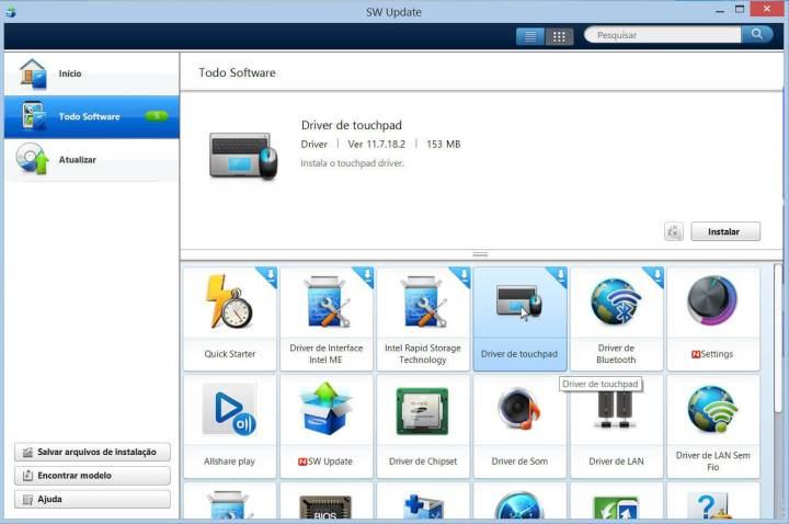 Como atualizar um notebook através do Samsung Update 7