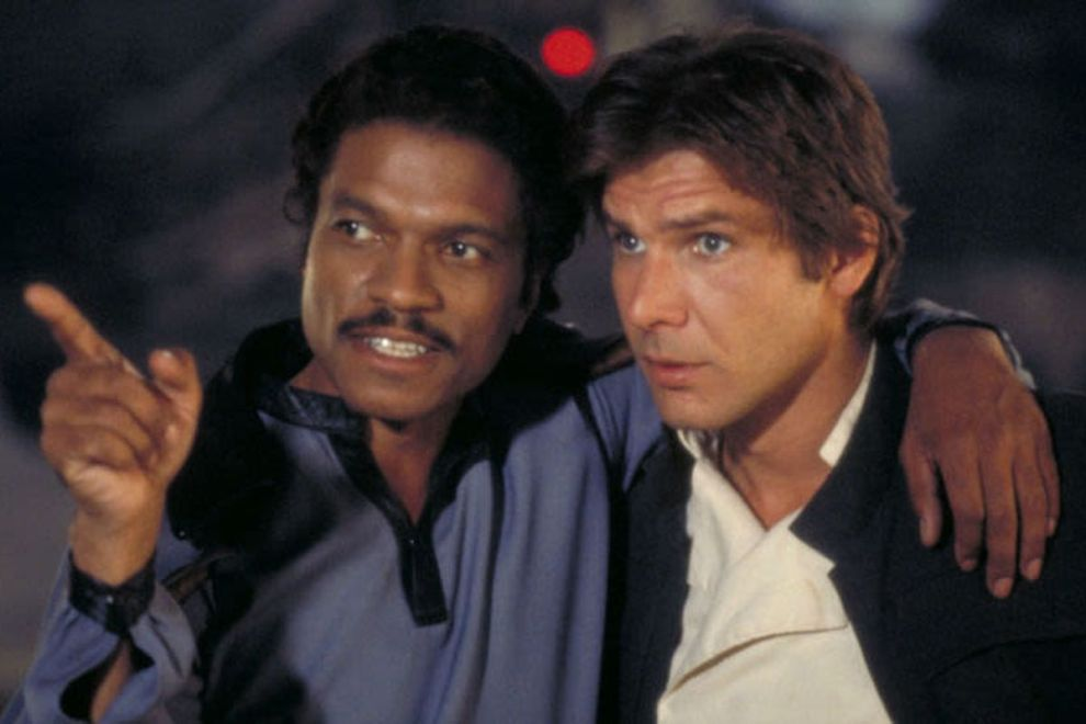 lando calrissian and harrison ford han solo in star wars the empire strikes back - Star Wars IX: Lando Calrissian original retornará para a trilogia