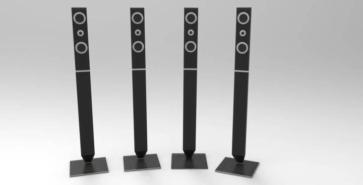 samsung home theater speaker 3d model 720x368 - Home Theater ou Soundbar: qual é a melhor opção para a sua sala?