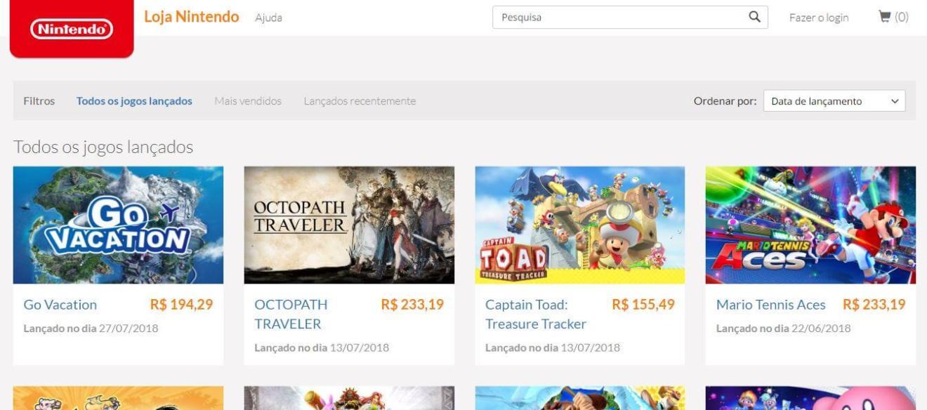 1 1 - Aprenda a fazer compras pela loja online da Nintendo no Brasil