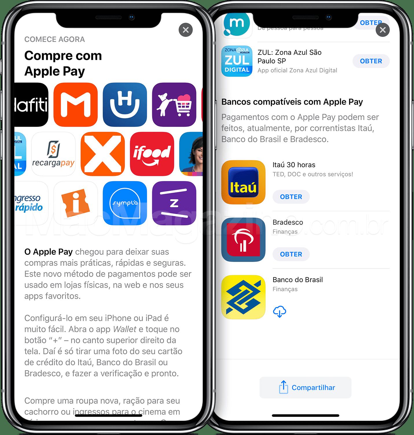 11 applepay - Apple Pay agora suporta também Banco do Brasil e Bradesco