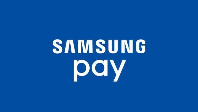 Logomarca do Samsung Pay, o método de pagamento da Samsung