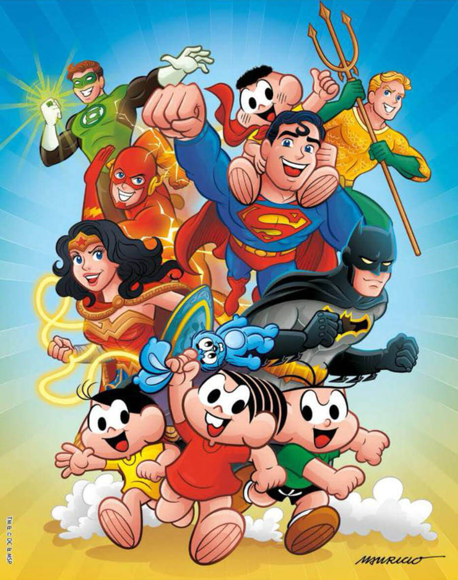 Turma da Mônica com os heróis da DC