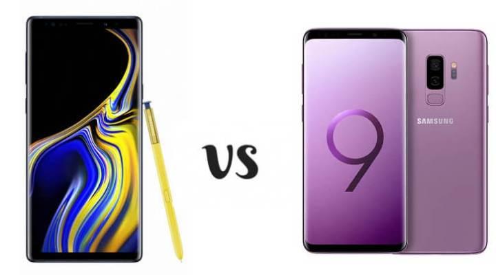 note9 vs s9, as diferenças básicas