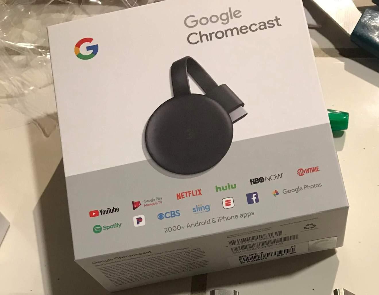 3rd generation chromecast leak box - Um novo Chromecast(terceira geração) vaza na internet