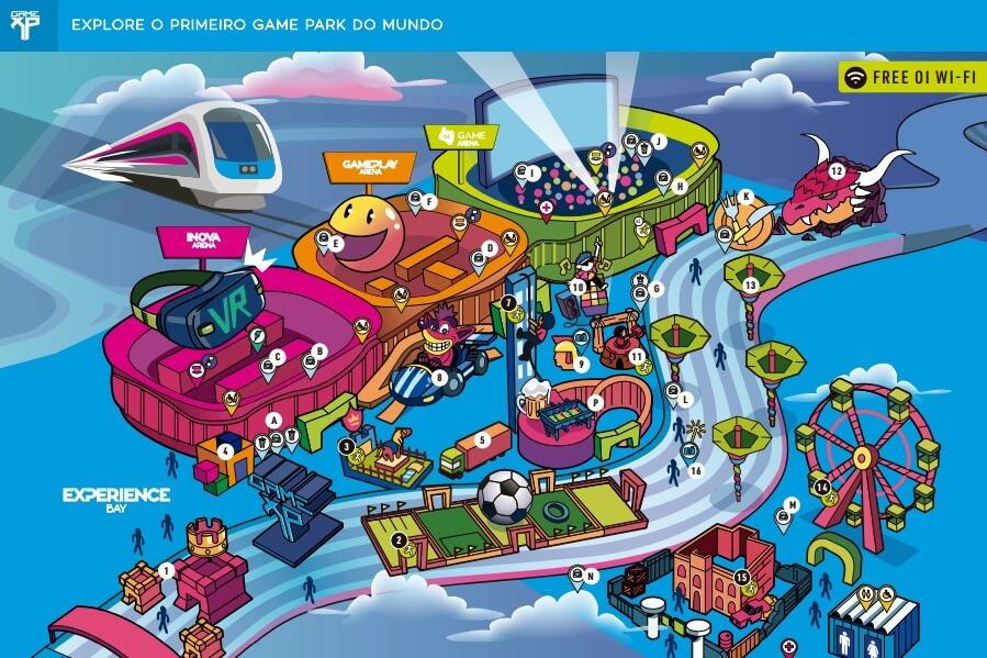 Mapa do Park da Game XP