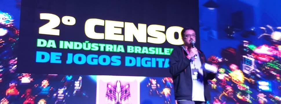 Sérgio Sá Leitão, durante uma apresentação na Game XP, na tarde deste domingo (09).