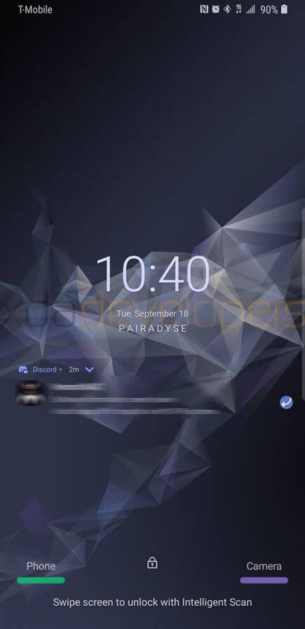 Modo Escuro no Galaxy S9