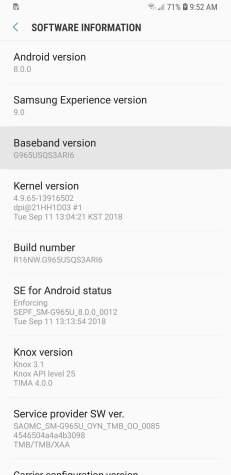 Como instalar a versão beta do Android Pie 9 em seu Galaxy S9 ou S9+ 5