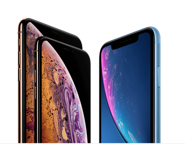 Imagem dos iPhone XS e iPhone XR