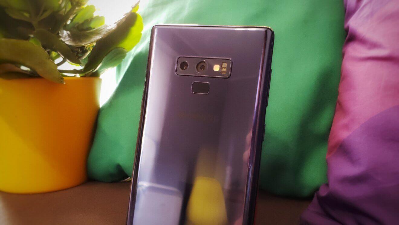 Câmeras traseiras Galaxy Note 9