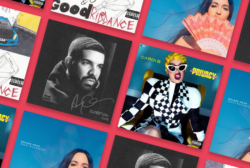Imagem que ilustra quais os melhores do ano no serviço da Apple Music