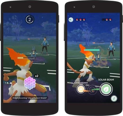 Batalhas PVP no Pokémon Go