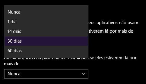 Faça o Windows 10 apagar 'automagicamente' os arquivos temporários 10