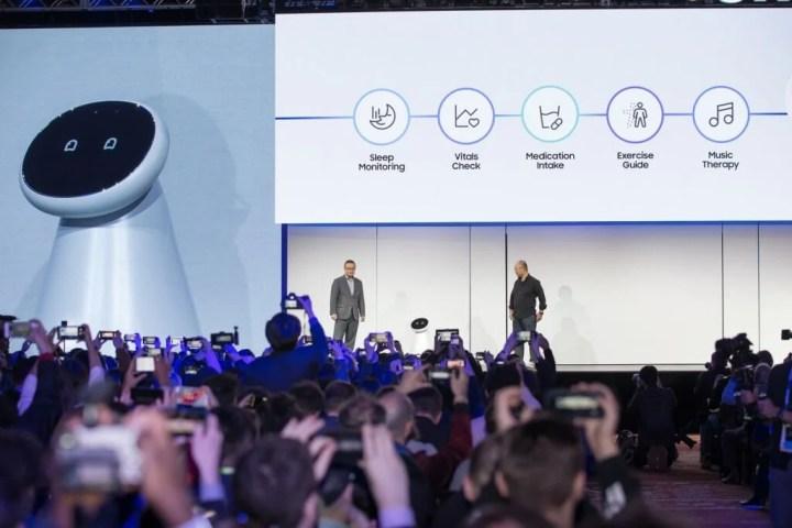 A grande surpresa do evento da Samsung foram os robôs