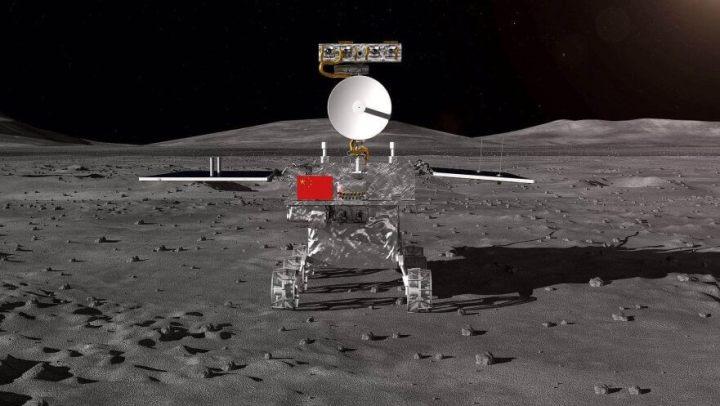 Sonda chinesa Chang'e 4 pousando na lua