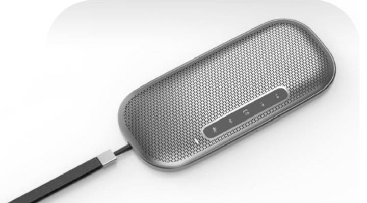 O alto falante Bluetooth conta com botões intuitivos na parte da frente