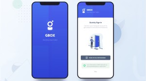 Tela do Gbox em smartphone