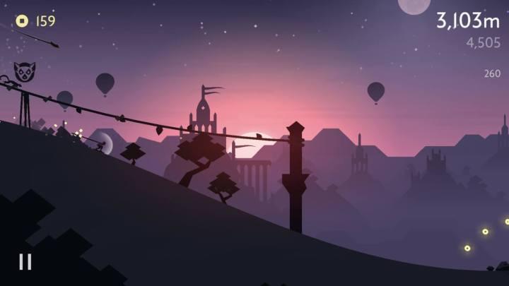 Captura de tela do jogo Alto's Odyssey para iOS