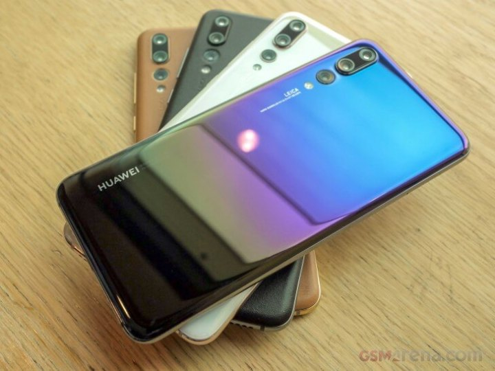 4 celulares da Huawei, modelo P20