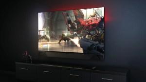 Monitor Gamer Gigante de 65 polegadas
