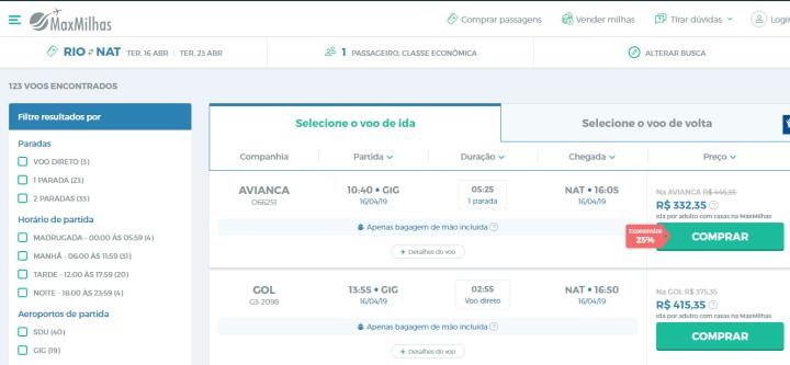 MaxMilhas: consiga ótimos preços em passagens aéreas 5