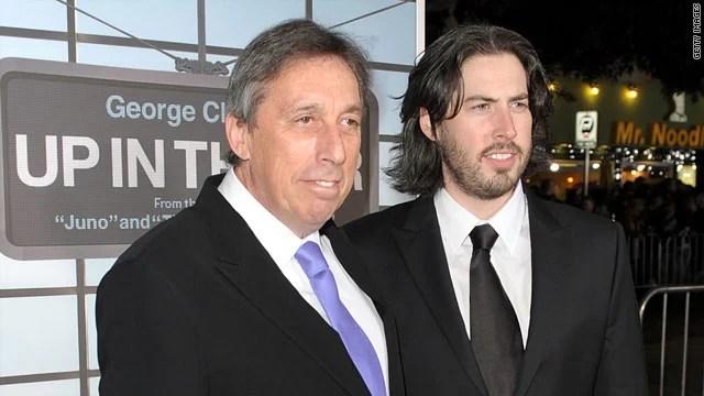 Ivan Reitman (esquerda) e seu filho, Jason Reitman (direita)