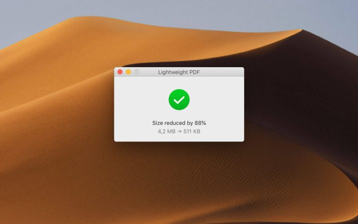 Arquivo reduzido em 88%