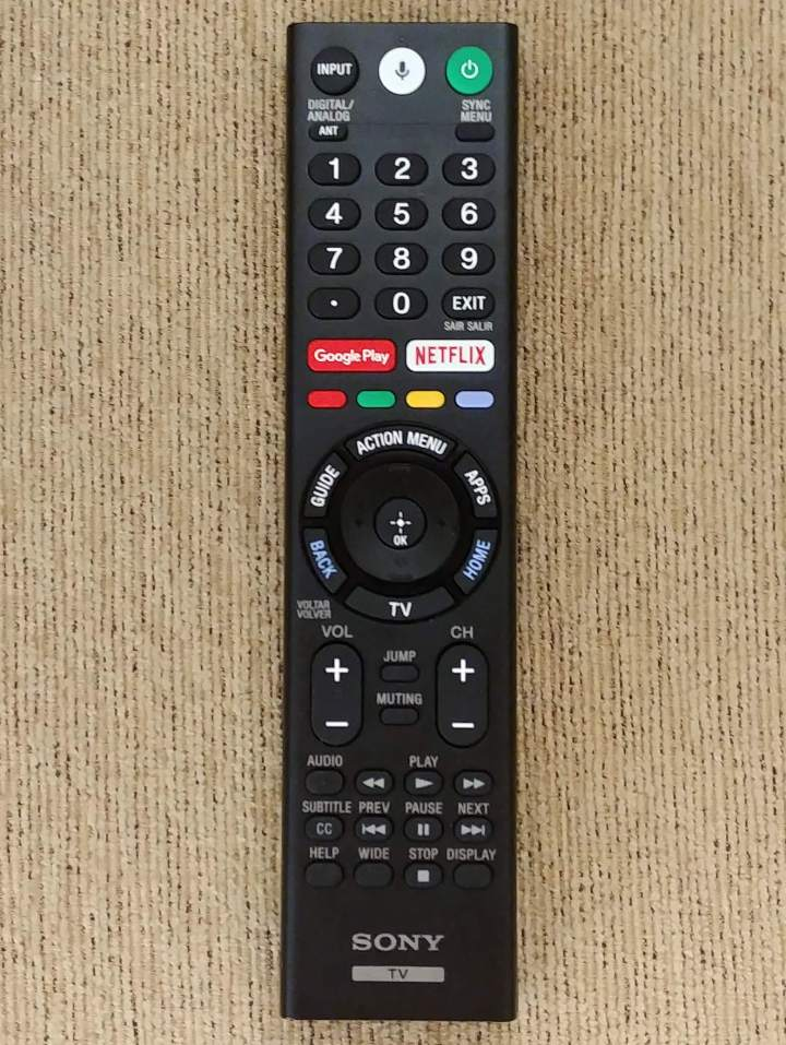 Controle Sony TV X905F
