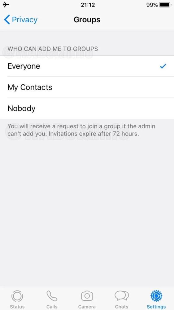 Novo recurso de convites para participar de grupos no WhatsApp