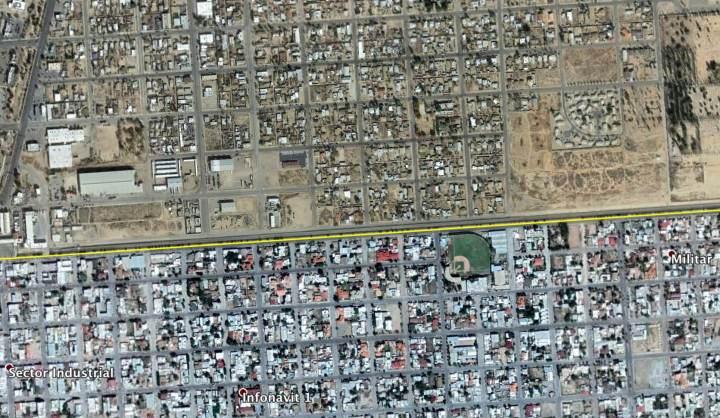Divisa entre o México (sul) e os Estados Unidos (norte)