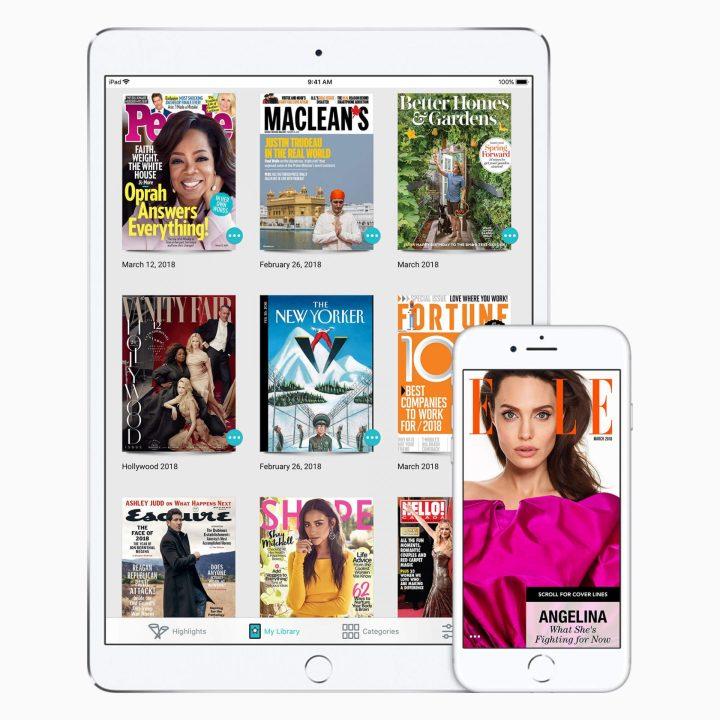 Texture, adquirida pela Apple em 2018, oferecia acesso a mais de 200 revistas nos EUA.