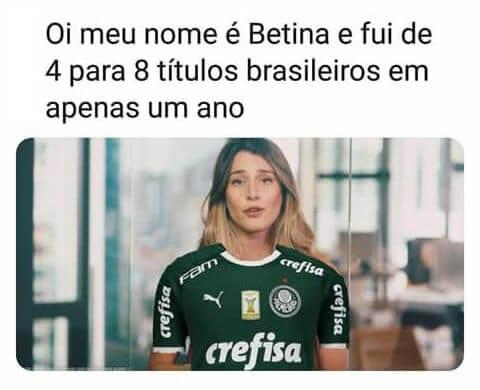 Bettina vira meme no futebol