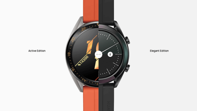 O Huawei Watch GT Active tem tela de 1.39 polegadas, enquanto o Elegant tem uma tela de 1.2 polegadas