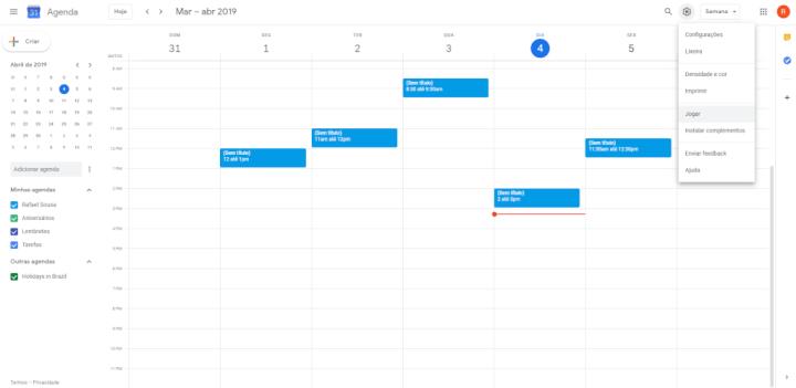 Jogue agora mesmo Space Invaders no Google Calendar 5