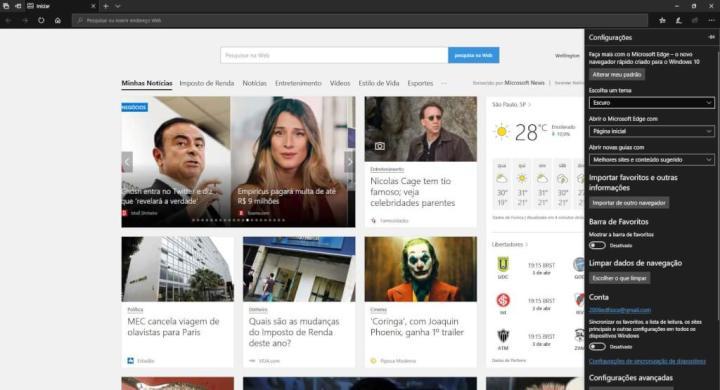 Como habilitar o Modo escuro no Windows 10, Microsoft Edge e Office