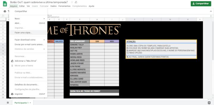 Baixe o bolão de Game of Thrones e aposte o final da série com seus amigos 6