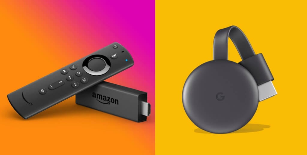 Amazon Fire TV Stick e Google Chromecast