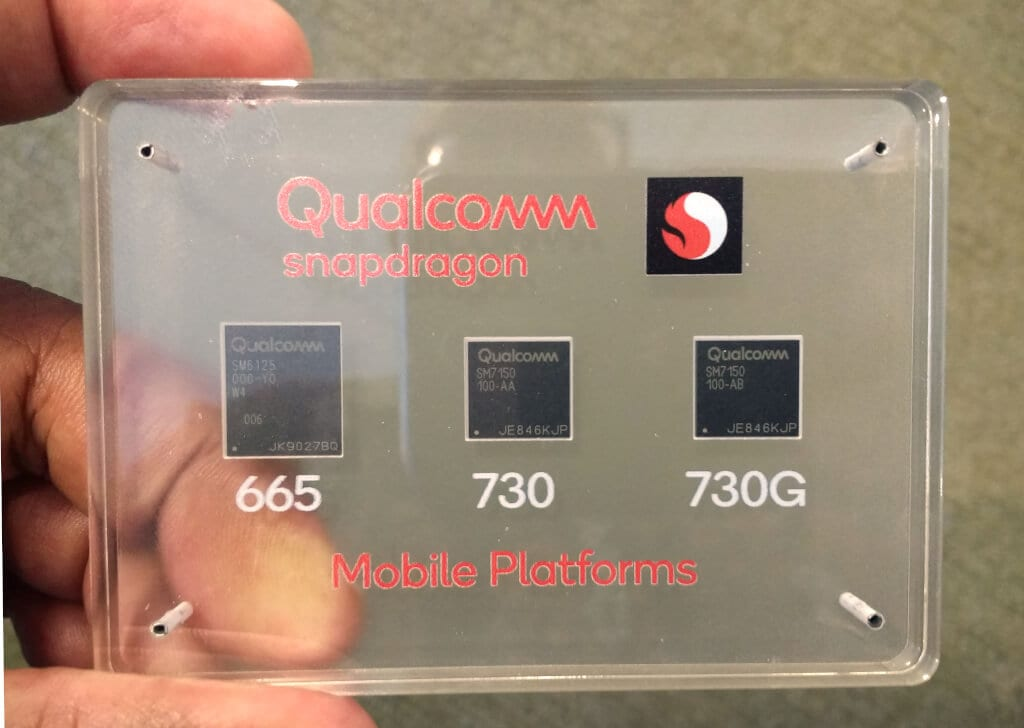 chips qualcomm 665, 730 e 730G