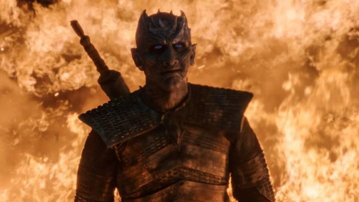 O Rei da Noite no terceiro episódio da oitava temporada de Game of Thrones.