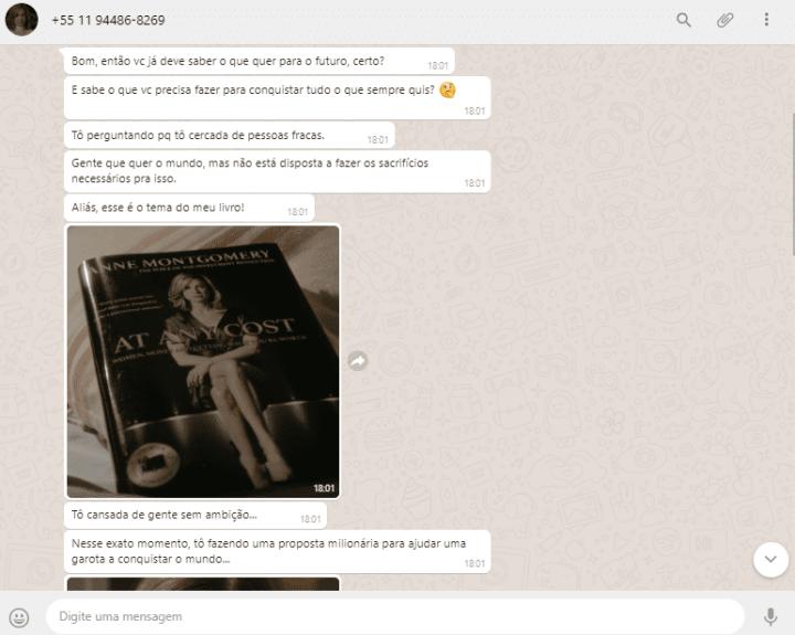 Conversa com Anne, personagem de Dilema.