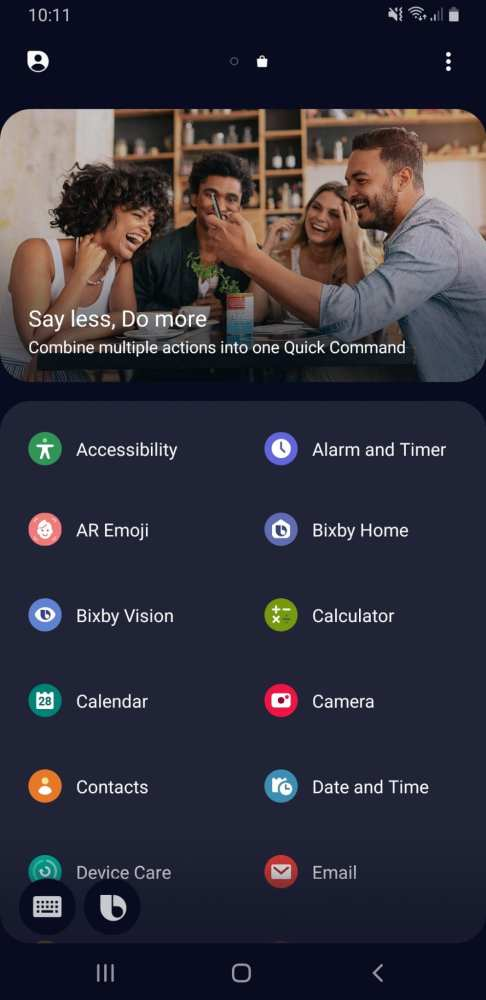Bixby no Galaxy A9 2018