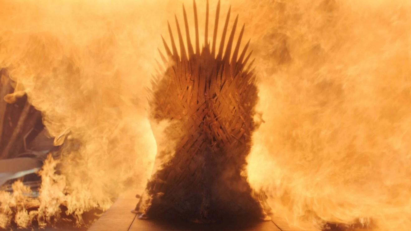 Trono de Ferro no último episódio de Game of Thrones.