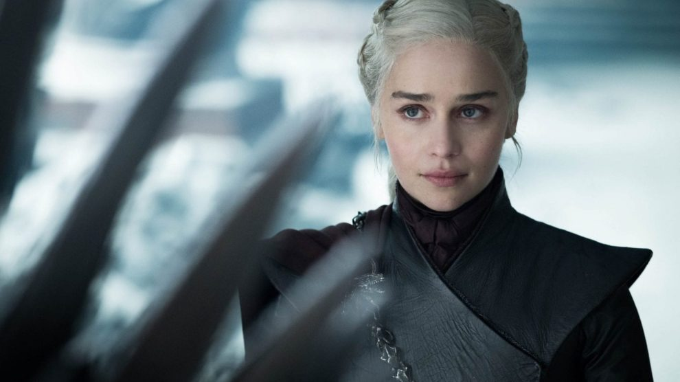 Daenerys Targaryen no último episódio de Game of Thrones.