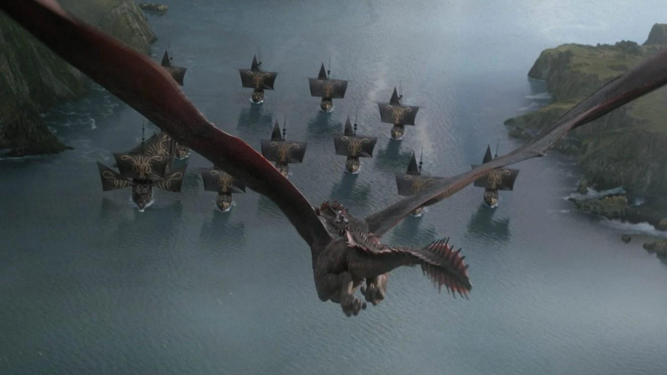 Dany e sua frota chegam ao Sul de Westeros.
